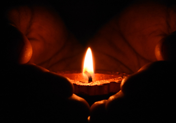 Light the candle, Hidden Roots Storytelling Circles